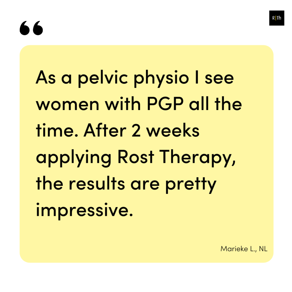 Testimonial Pelvic girdle pain online course 3