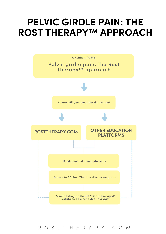 Pelvic girdle pain online course flowchart