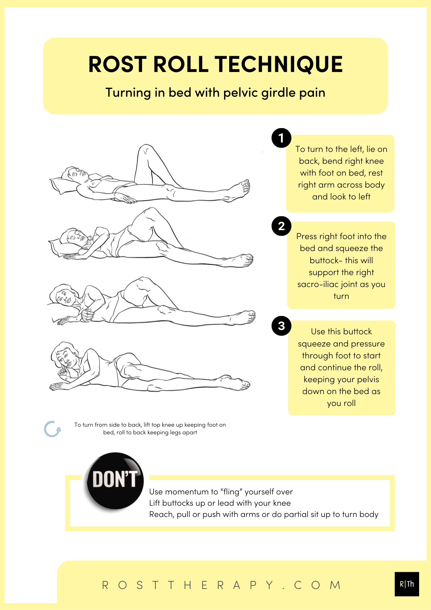 Rost roll for pelvic girdle pain